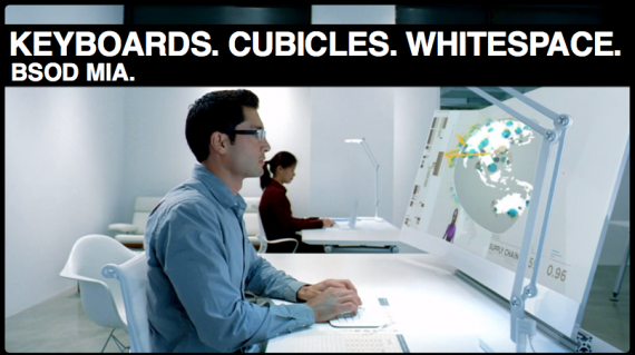 The Future According to Microsoft Office is Clean With Clear Racial Divisions.