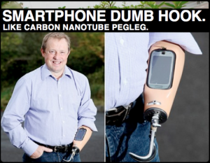 Prosthetic with Nokia Smartphone Dock: An Anachronism Trapped in an Anachronism!