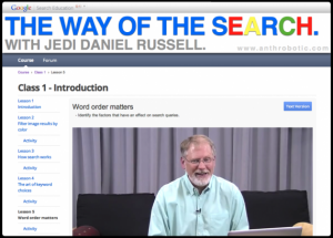 Power Searching with Google: Online Course, Lesson 1 – Taken!