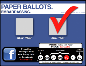 TERMINAL ANACHRONISM: The Polling Place & Voting Booth (vulnerable)