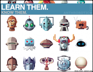 Just for Fun: Famous Robots, Illustration by Daniel Nyari