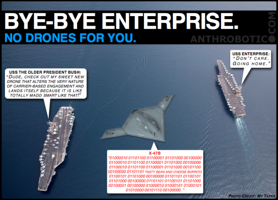 Retiring USS Enterprise and the X-47B Shall Never Find Romance [FLASHBACK]