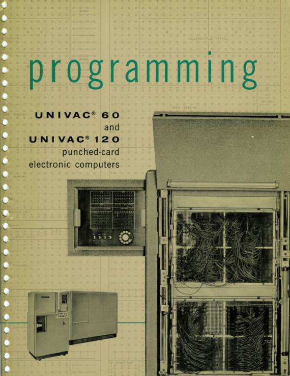 UNIVAC MANUAL PAGE ONE
