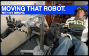 Touching His Girlfriend and Fighting Paralysis with a Robot Powered by Mind Bullets