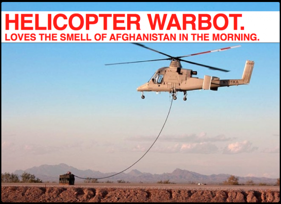 REMINDER: More than 1/50 American Soldiers in Afghanistan is Robotic, with Helicopters! [FLASHBACKERY]